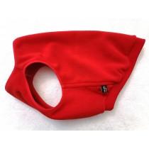 Безрукавка флис Красная  Бульдог стандарт