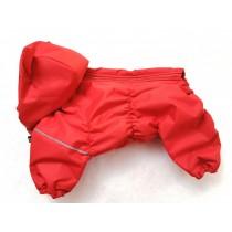 Комбинезон Межсезонье на ФЛИСЕ Красный с ушками Бульдог компакт Мопс Мальчик с капюшоном